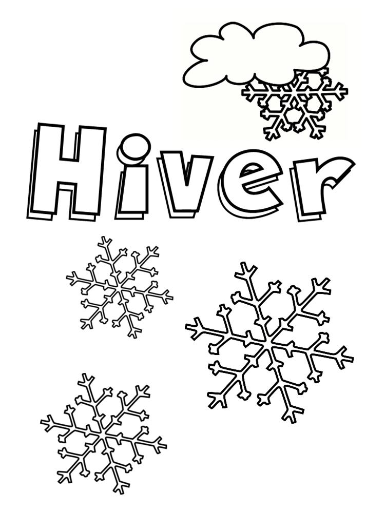 Coloriage Saison Printemps.Coloriage Hiver 24 Dessins A Imprimer