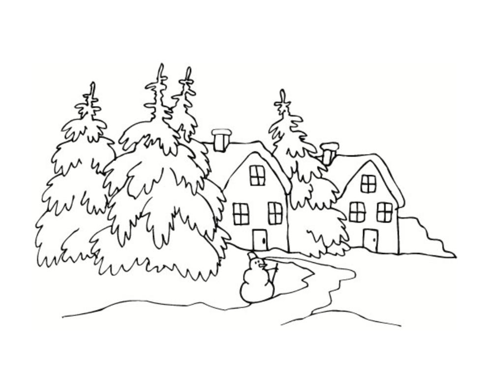 Coloriage hiver 24 dessins imprimer - Dessin maison a imprimer ...