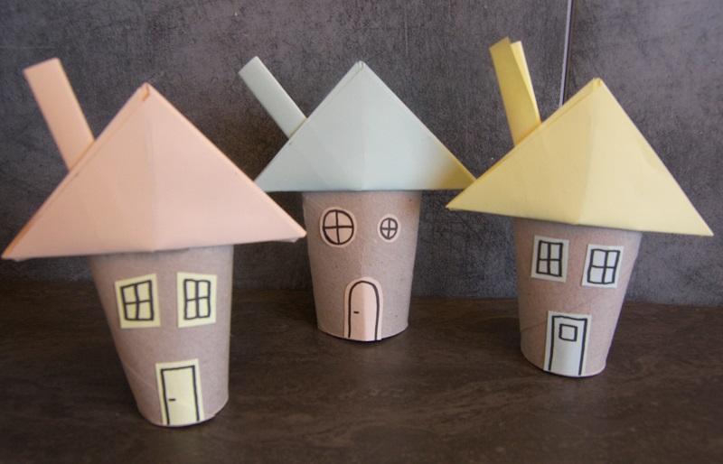 Great Charming Bricolage Maison En Papier Modele Maison Carton A Imprimer  With Bricolage Maison En Carton