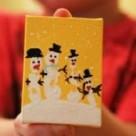 Empreinte de main bonhommes de neige : un cadeau original
