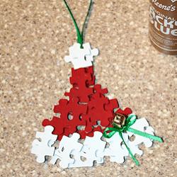 décoration de noel avec puzzles