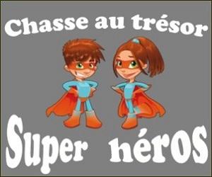 chasse trésor super heros
