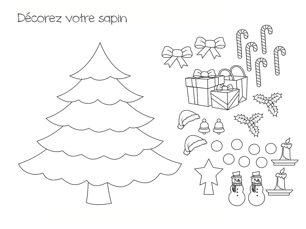 Free Classroom Decoration Templates ~ Coloriage sapin modèles à imprimer