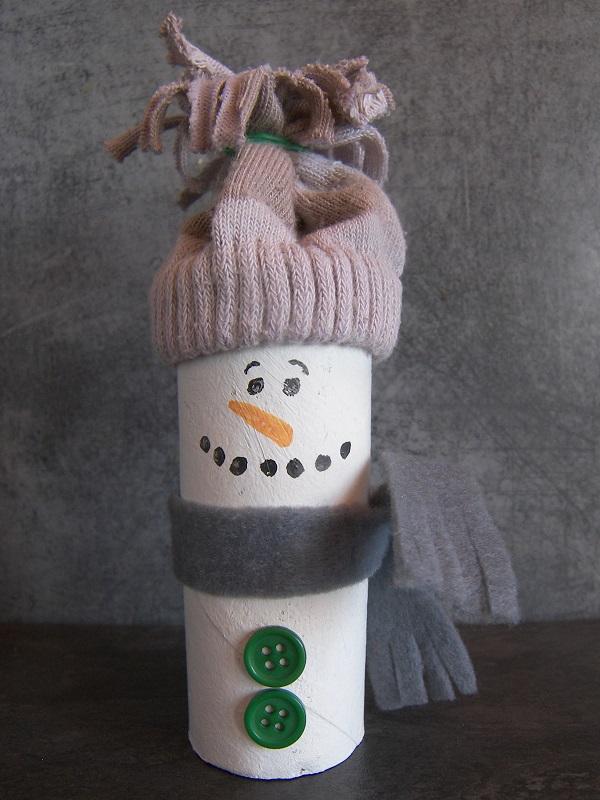 Bricolage bonhomme de neige - Bonhomme de neige en pompon ...