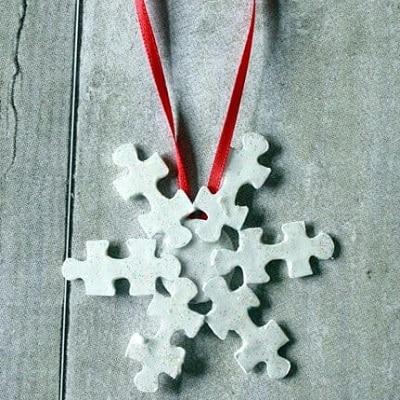 ornement de noel puzzle