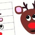Le renne qui rit : jeu de Noël à imprimer