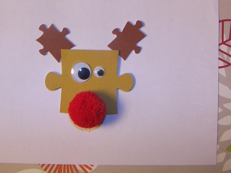 D corations de no l avec des vieux puzzles for Decoration de noel pour enfant