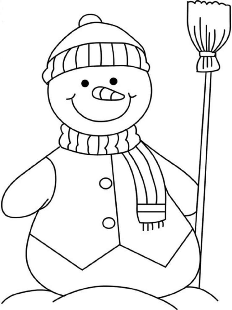 Coloriage bonhomme de neige 20 dessins - Coloriage de bonhomme ...