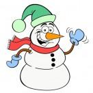 Coloriage bonhomme de neige : 20 dessins