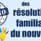 Top 10 des résolutions familiales du nouvel an
