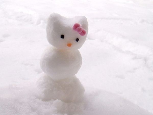 bonhomme de neige créatif