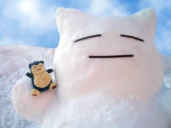 drôle de bonhome de neige