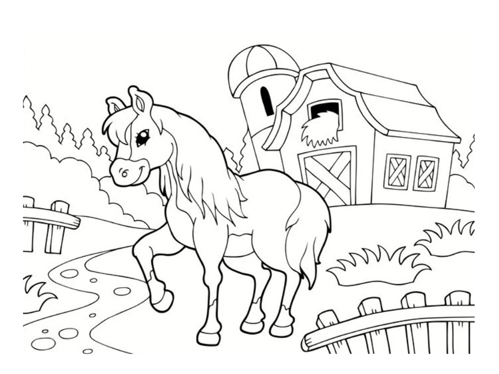 Coloriage poney dessins imprimer - Coloriage imprime ...