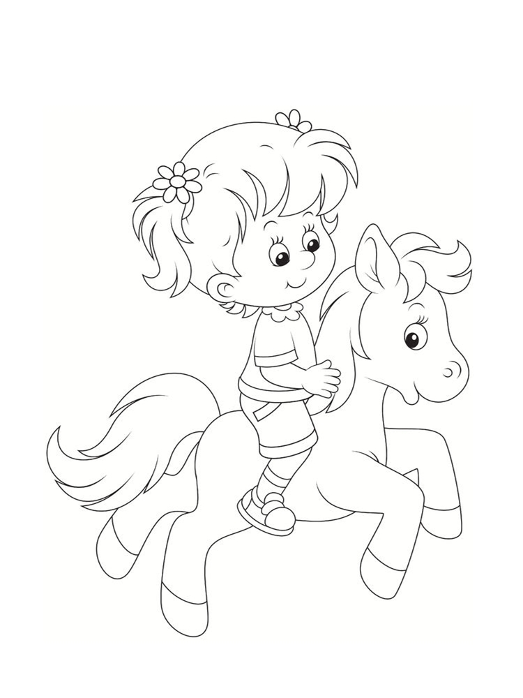 Coloriage poney dessins imprimer - Imprimer coloriages ...