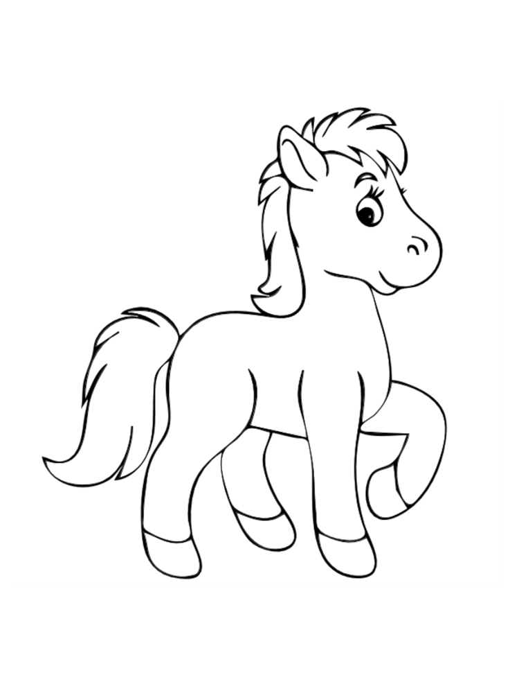 coloriage poney dessins a imprimer