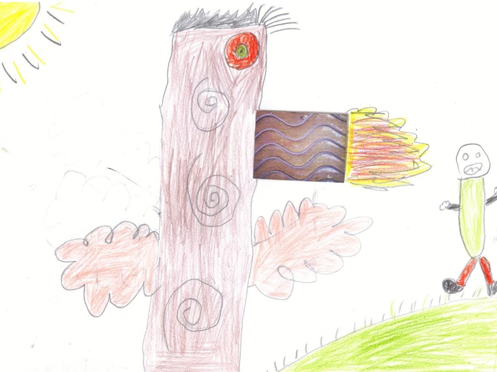 dessin totem enfant
