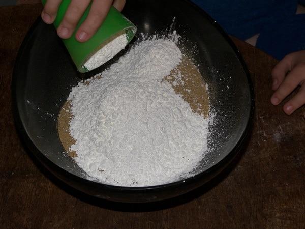 mélange sable maïzena