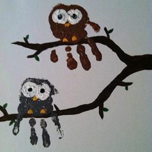 Empreinte de main 25 id es faciles et originales - Peinture main enfant ...
