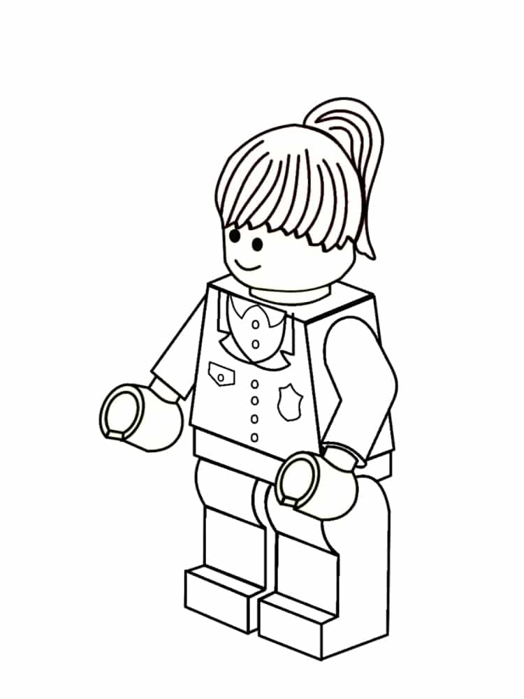 1000 images about mini figures lego on pinterest - Coloriage fille ...