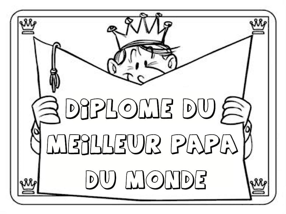 Dipl me du meilleur papa 9 mod les imprimer - Diplome du super papa a imprimer gratuit ...
