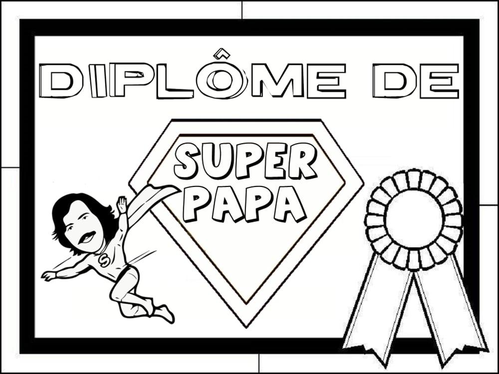 diplome du super papa