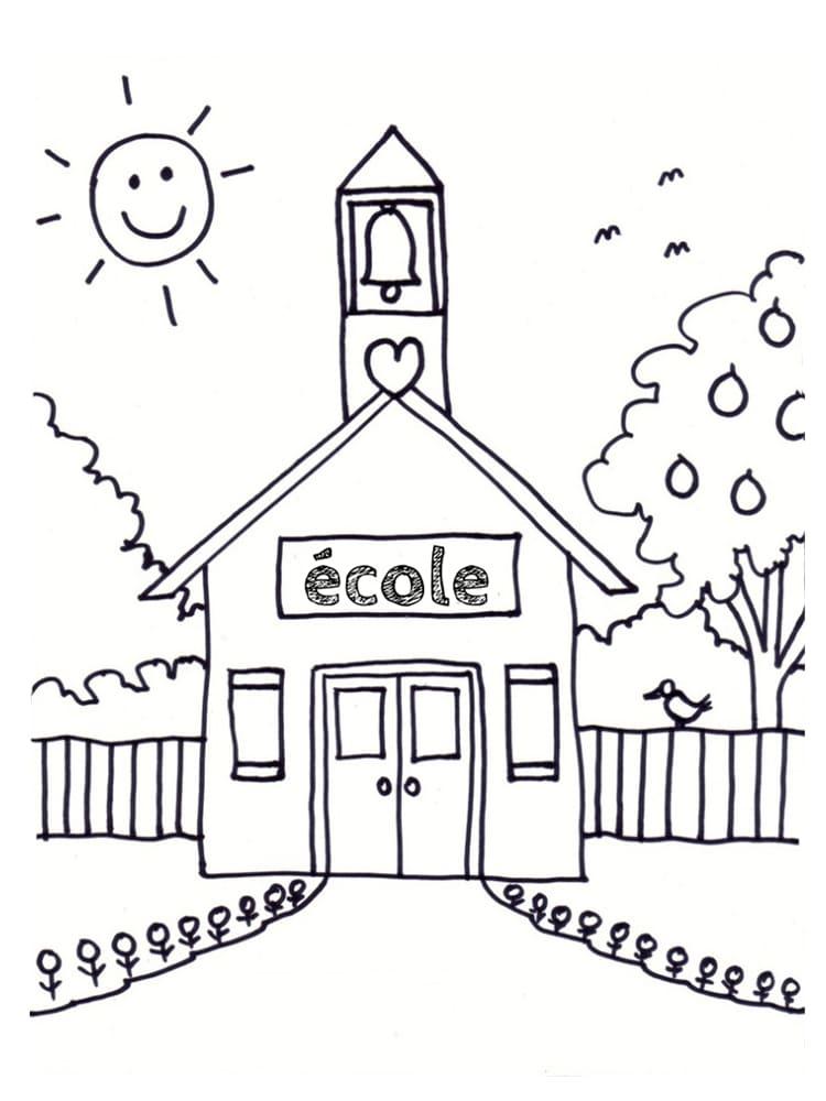 Coloriage Fete De Lecole.Coloriage Ecole 25 Modeles A Imprimer