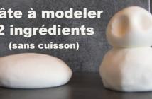 Pâte à modeler avec deux ingrédients