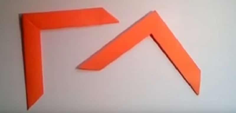 origami boomerang en papier tutoriel vid o. Black Bedroom Furniture Sets. Home Design Ideas