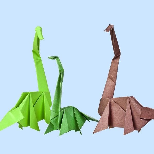 Origami dinosaure tutoriel vid o - Dinosaure rigolo ...