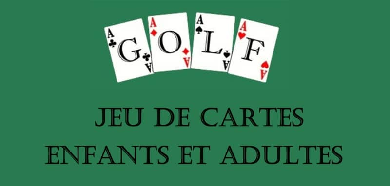 jeu de cartes pour enfants et adultes golf. Black Bedroom Furniture Sets. Home Design Ideas