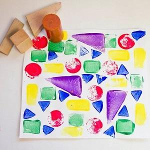 peindre sans pinceau enfant