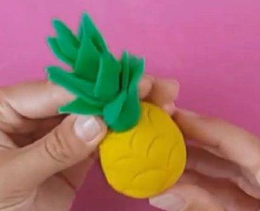 ananas en pâte à modeler