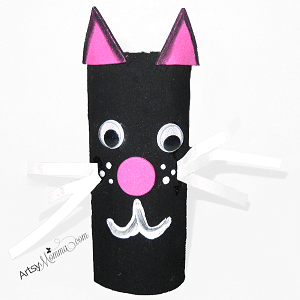 Personnages d 39 halloween avec des rouleaux for Cat art and craft