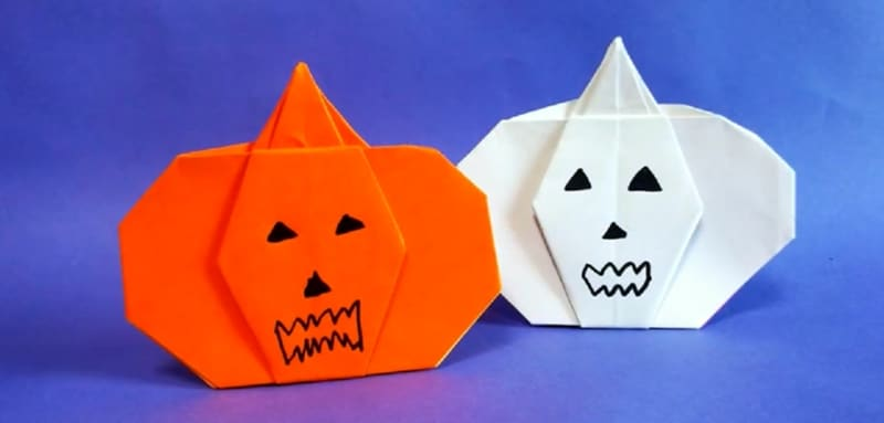 Origami citrouille facile - Citrouille halloween en papier ...