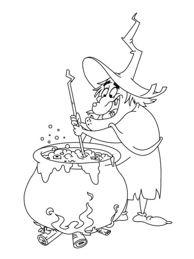 Coloriage sorci re les mod les imprimer - Le jeux de la sorciere qui fait peur ...