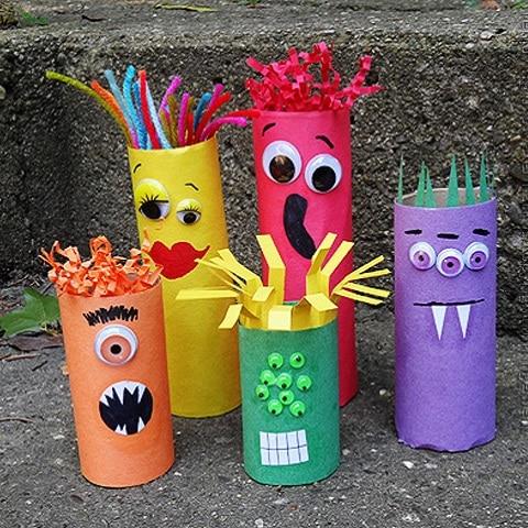 Personnages d 39 halloween avec des rouleaux Bricolage maternelle halloween