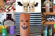 personnages d'halloween avec des rouleaux