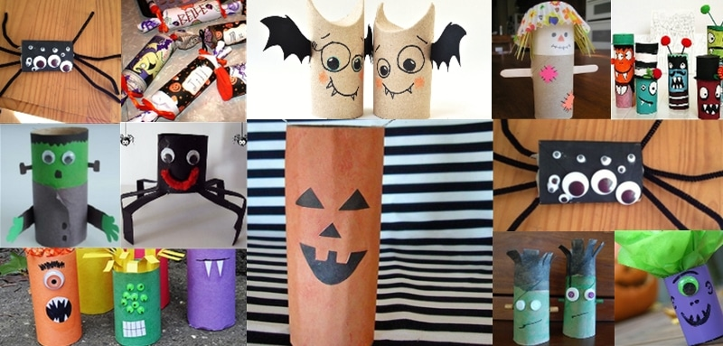 personnages d 39 halloween avec des rouleaux. Black Bedroom Furniture Sets. Home Design Ideas