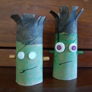 Personnages d 39 halloween avec des rouleaux - Idee avec rouleau papier toilette ...