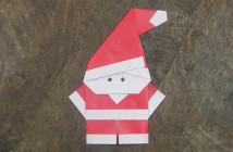 Origami Père Noël facile