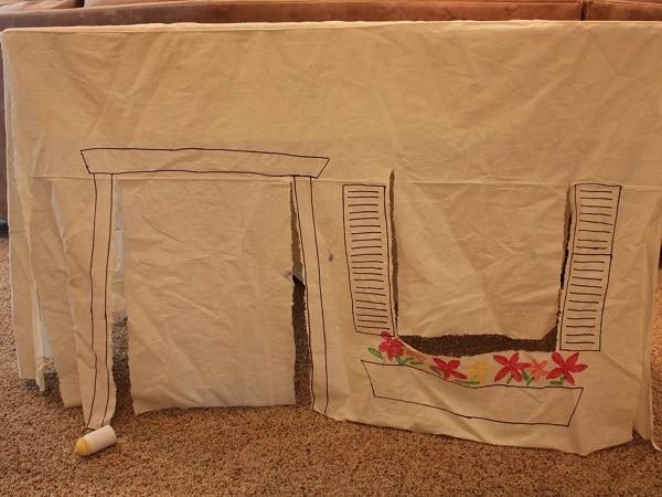 cabane table enfant