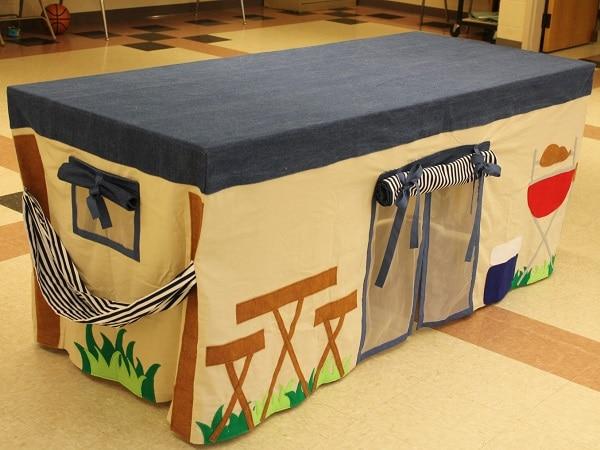 cabane table enfants