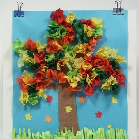 25 idées de papier collage thème « nature »