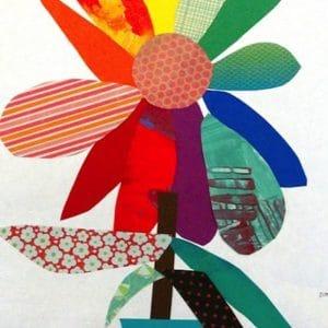 papier collage fleur