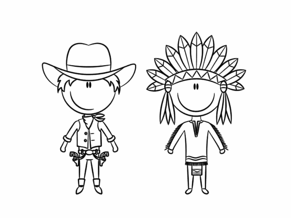coloriage cowboy et in n 25 modeles a imprimer