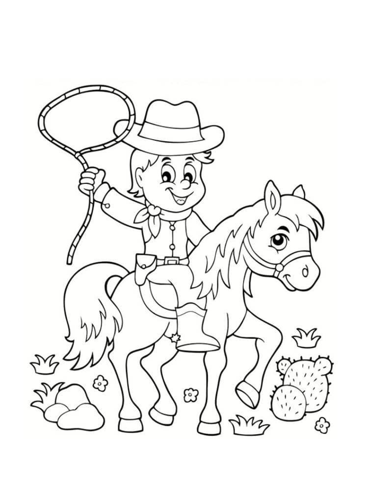 Coloriage cowboy 25 mod les imprimer - Dessin de cowboy ...