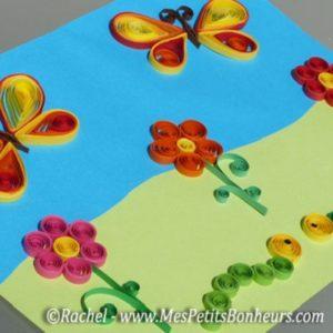 fleurs en papier collé