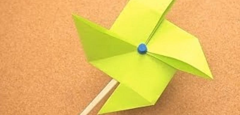 Origami moulin vent - Origami simple a realiser ...