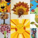 25 idées de papier collage thème «nature»