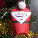 Père Noël facile en rouleau de papier toilette